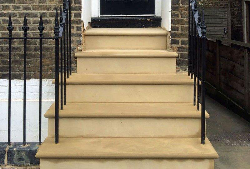 Steps in Battersea after restoration