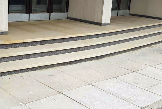 Office stone steps