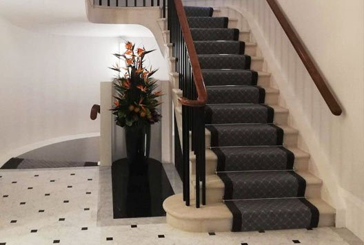 Internal stone steps staircase in London
