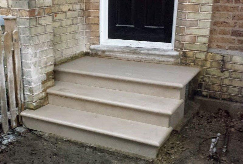 Stone steps repair in Woodford London