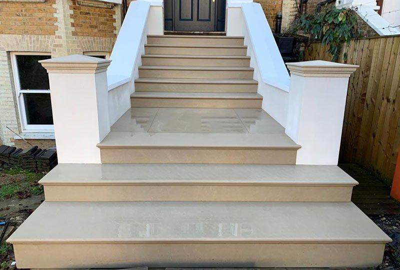 New stone steps Kilburn London