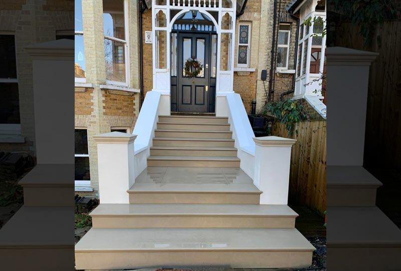 Photo of new stone steps in Kilburn London
