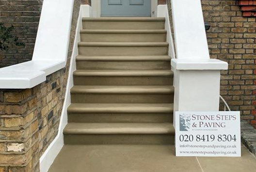 Yorkstone steps London example