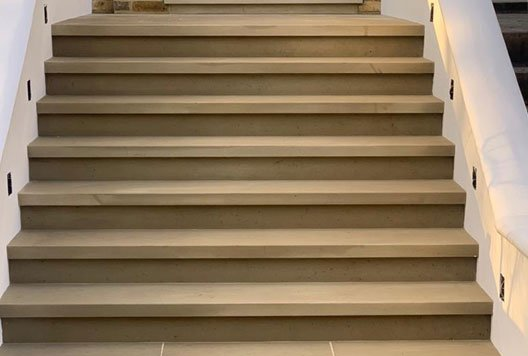 Yorkstone steps, Primrose Hill, London, NW3.