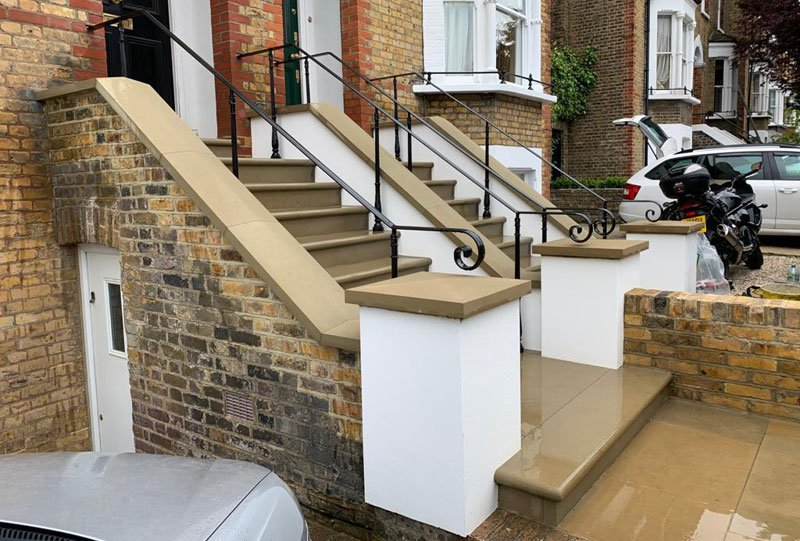 Another view of the completed stone steps