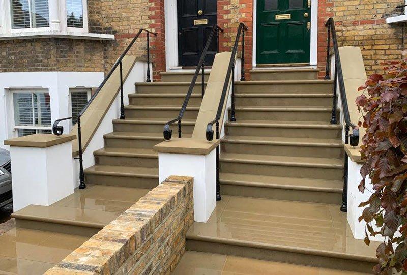 Waterproofed stone steps London